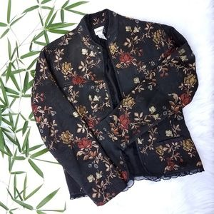 CHICO'S 1 Tapestry Print Jacket
